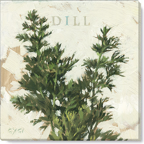 dill canvas art print