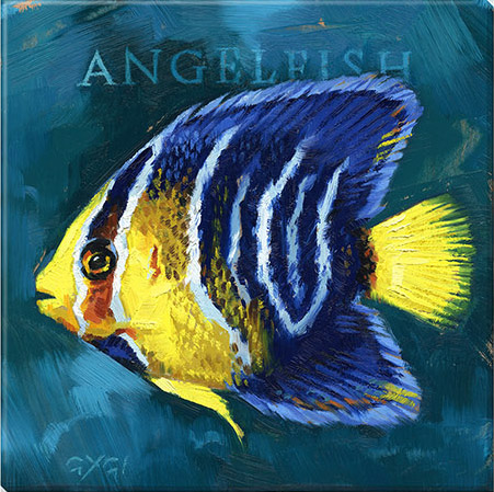 angel fish canvas art print