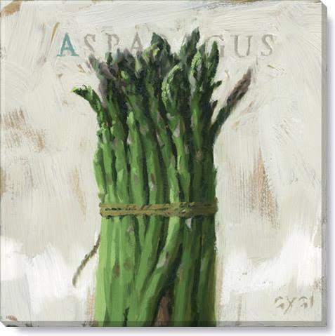 asparagus gallery wrapped giclee print