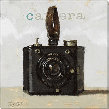 retro camera canvas art print