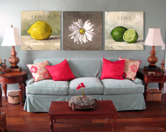 Citrus Pictures Hanging on a Wall