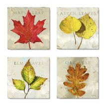 fall leaves art print set