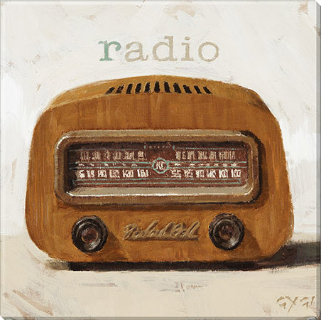 radio gallery wrapped canvas print