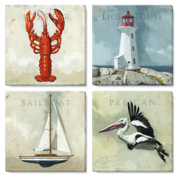 seaside canvas print set