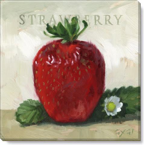 strawberry gallery wrapped giclee print