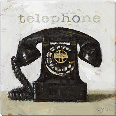 telephone canvas art print