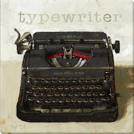 typewriter canvas art print