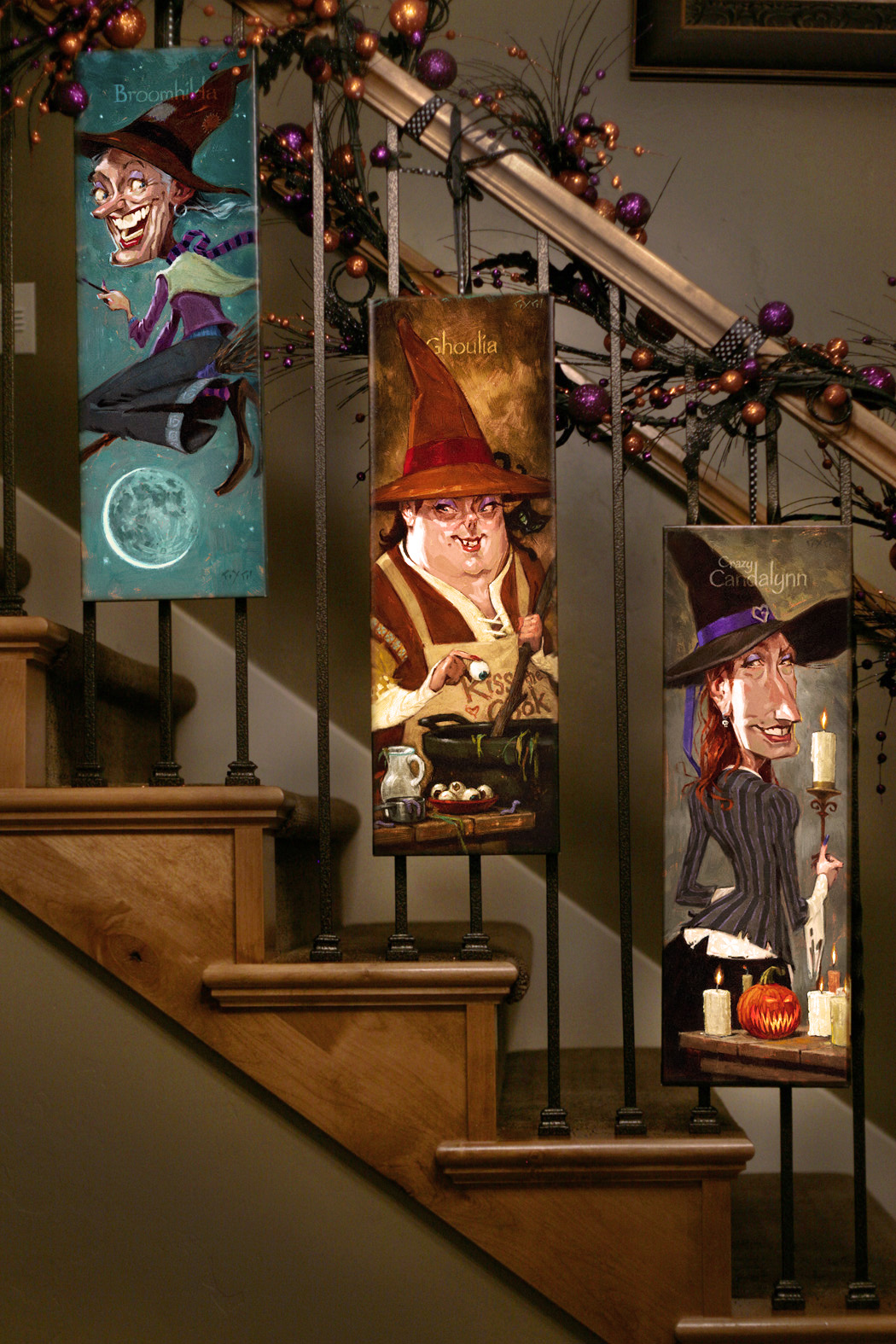 whimsical witches for halloween home decor