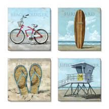 beach canvas print set