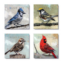 birds giclee art print set