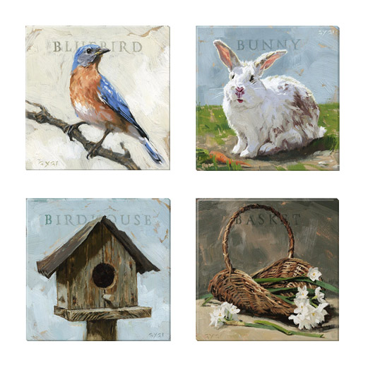 easter canvas print set