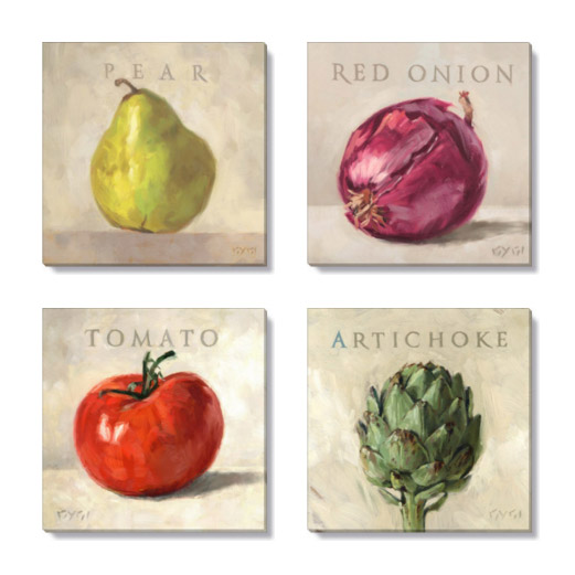 fruits and vegetables canvas prints
