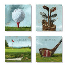 golf canvas art print set