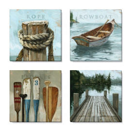 lakeside art print set