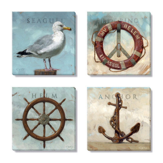 nautical art print set