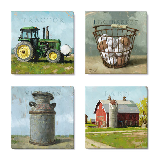 farm canvas print set