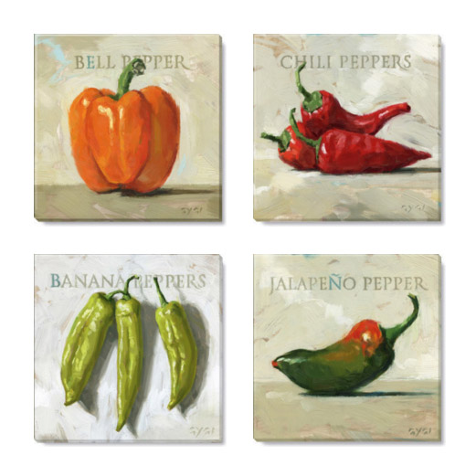 peppers giclee print set