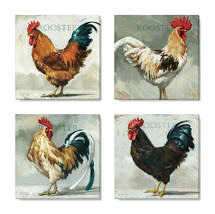 roosters print set