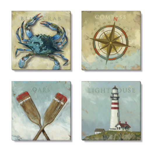 shoreline giclee art print set