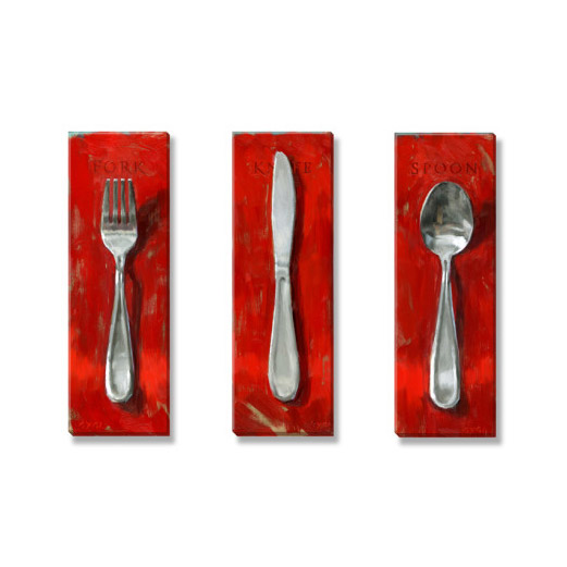 utensils art print set