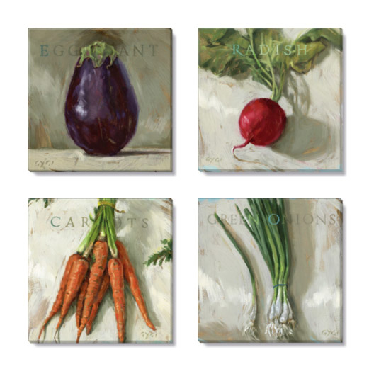 vegetable medley print set