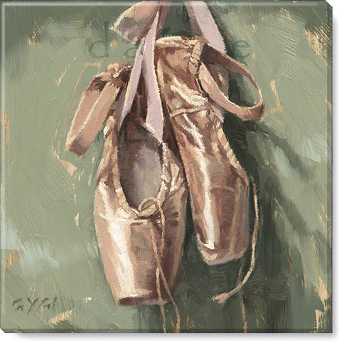 dance ballet shoes canvas print