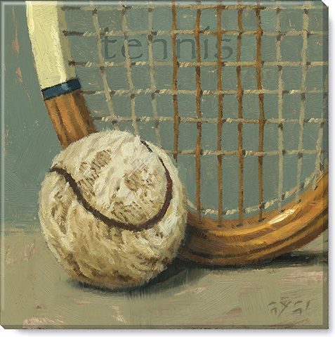 tennis canvas art print