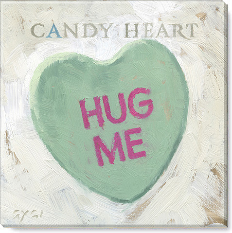 hug me candy heart art print
