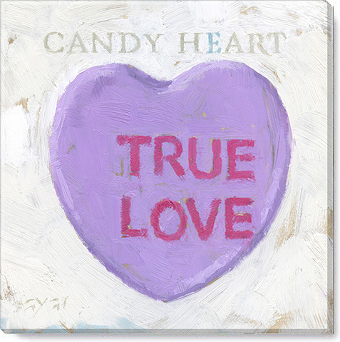 true love candy heart art print