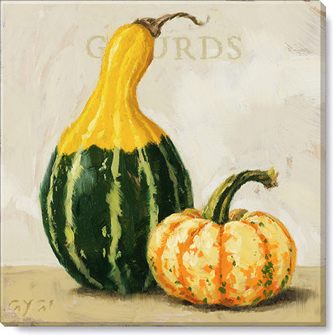 gourds standing canvas art print