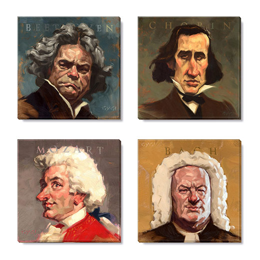 classical composers art print set