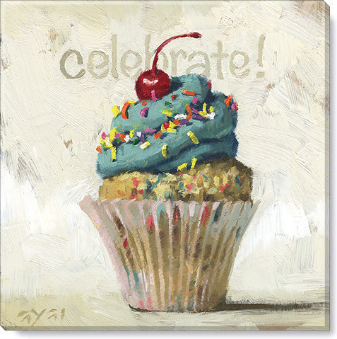 inspirational cupcake canvas art print