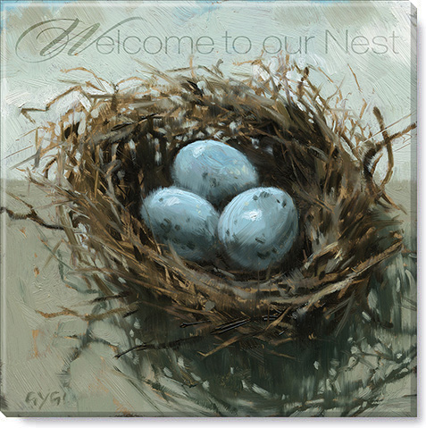 inspirational nest canvas art print