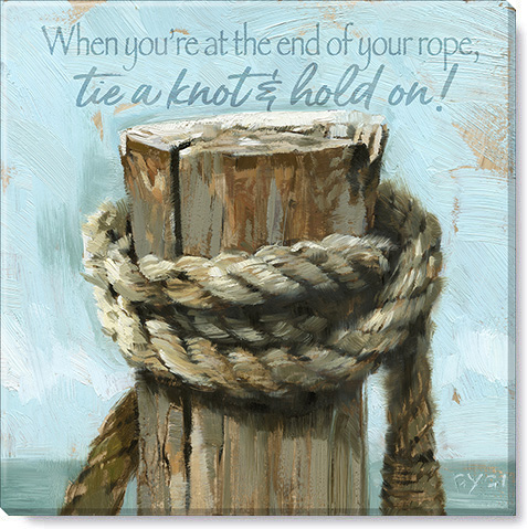 inspirational rope giclee art print