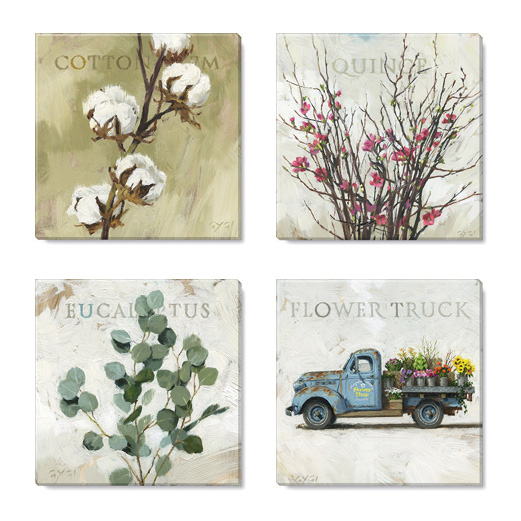 stunning stems canvas art print set