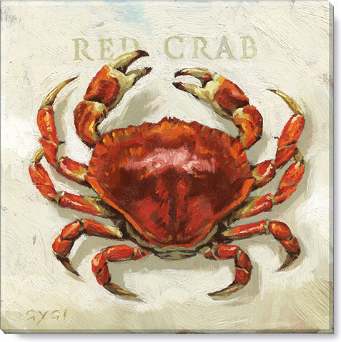 red crab canvas art print