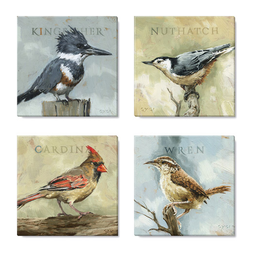 Birds Canvas Art Print Set