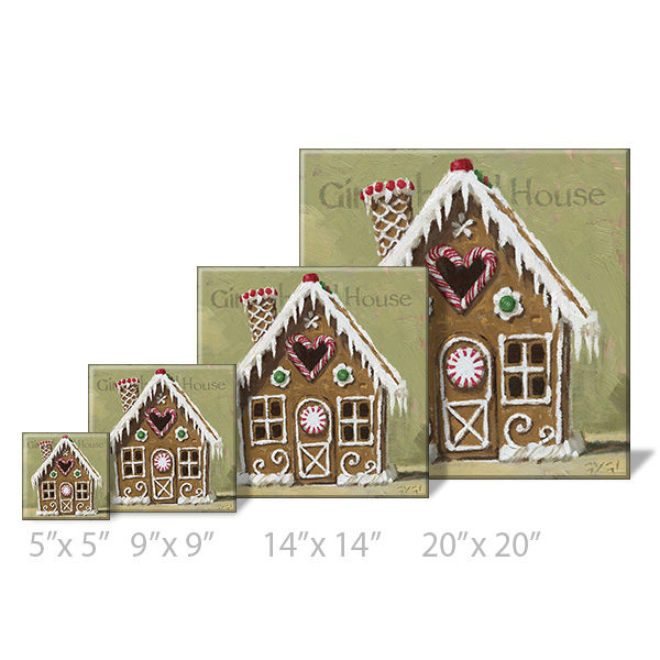gingerbread house print sizes