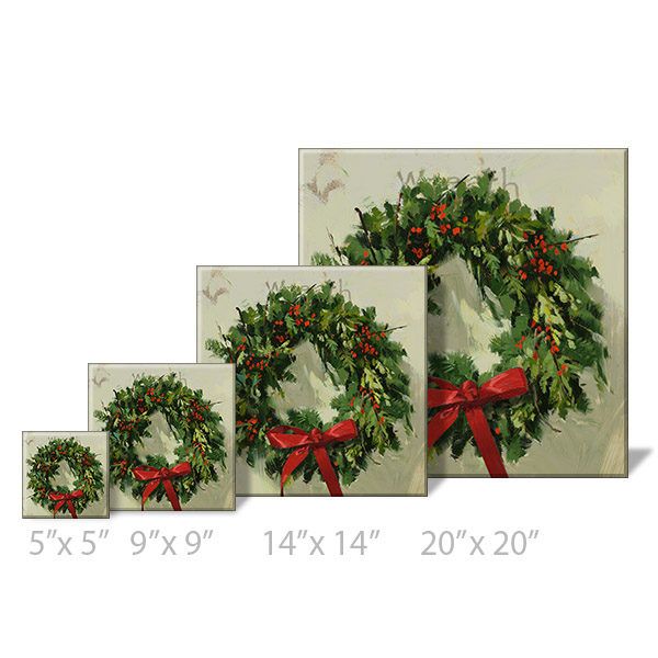 wreath print sizes