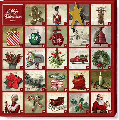 Christmas advent calender print