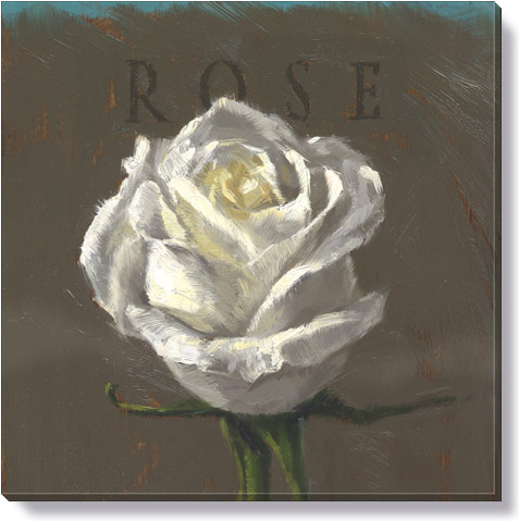 white rose giclee art print