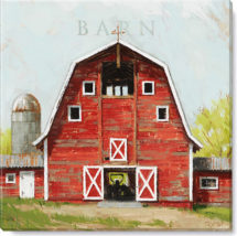 red barn giclee art print