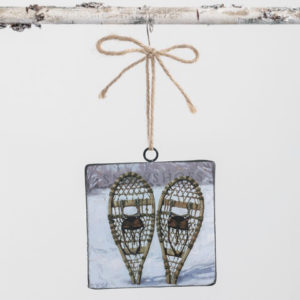 snowshoes ornament
