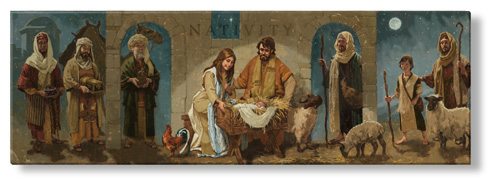 nativity full art print