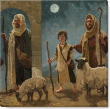 nativity shepherds art print