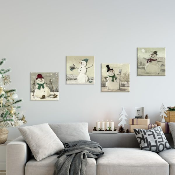 snowman canvas prints