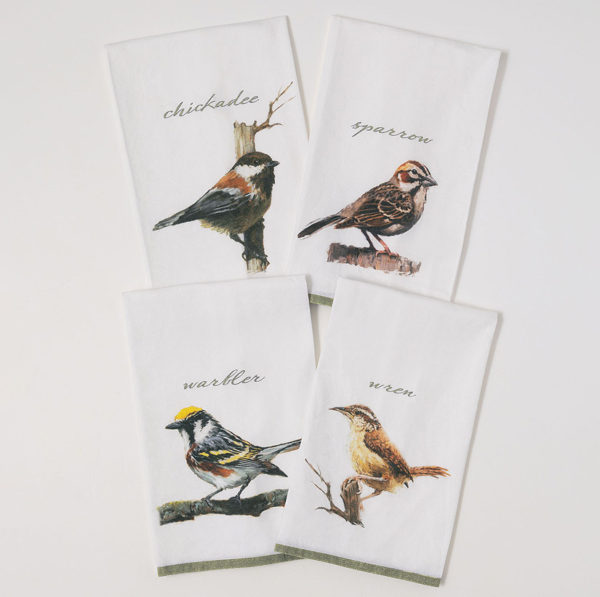 bird tea towel set