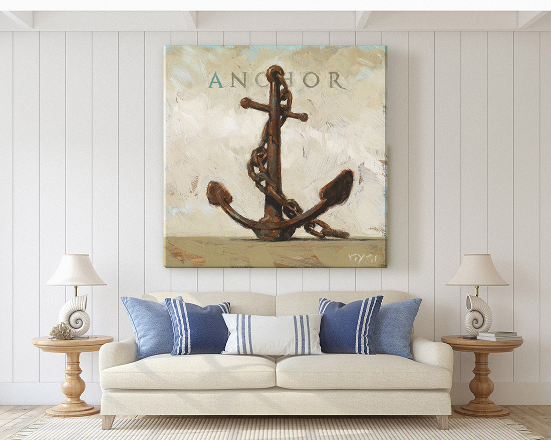 Anchor Canvas Print Large