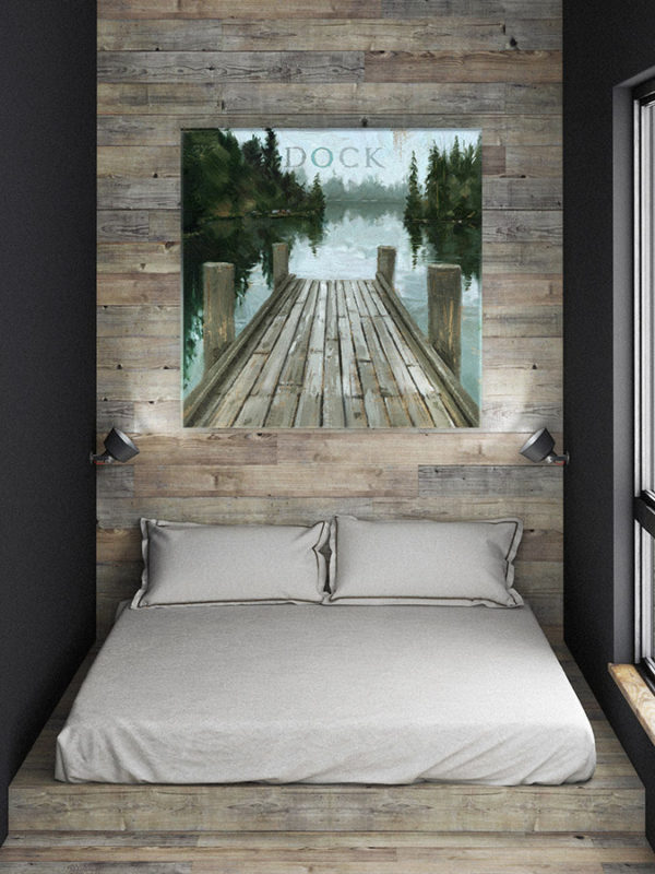 Large Dock Canvas Print