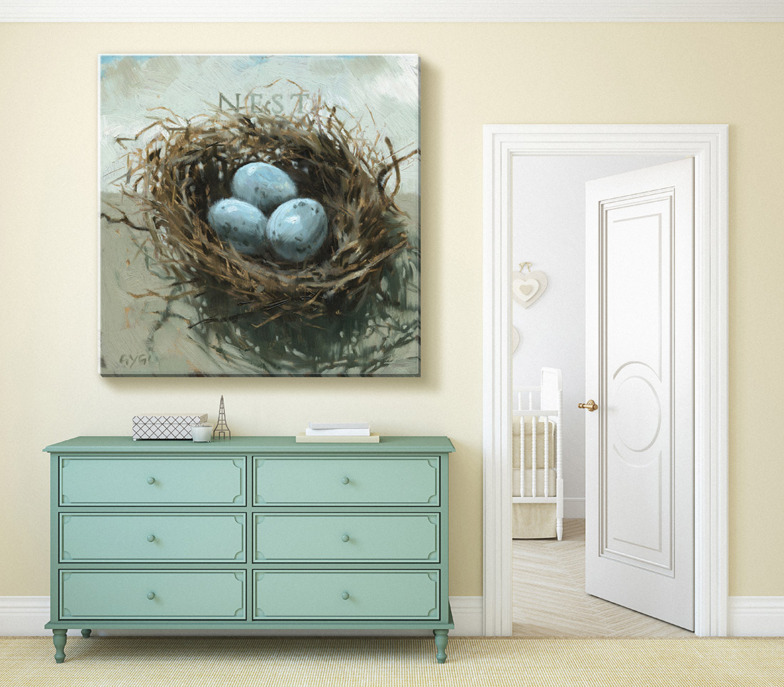 Extra Large Nest Canvas Print